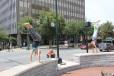 Ashville, NC street yoga